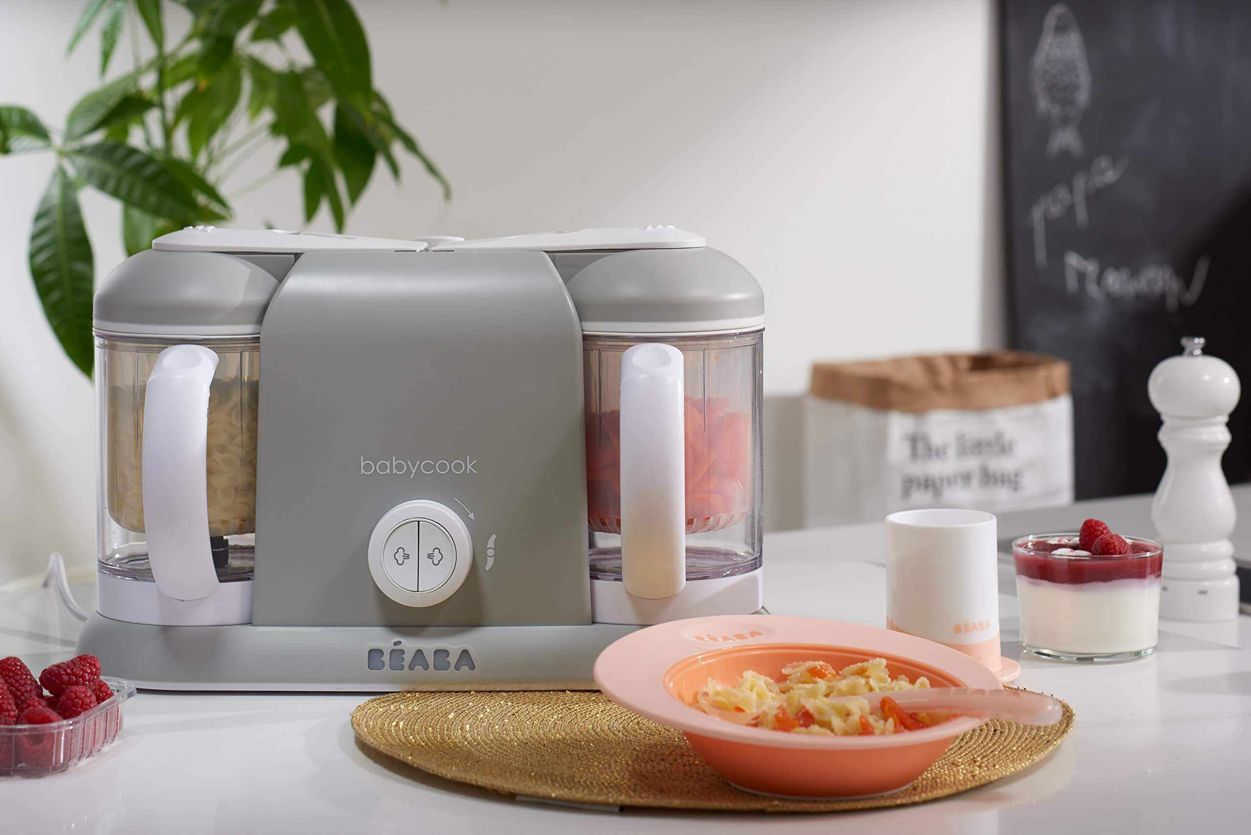 BEABA Babycook Plus 4 in 1 Steam Cooker and Blender, beaba baby food maker, beaba babycook original, Fresh, Healthy and Tasty Baby Food Making
