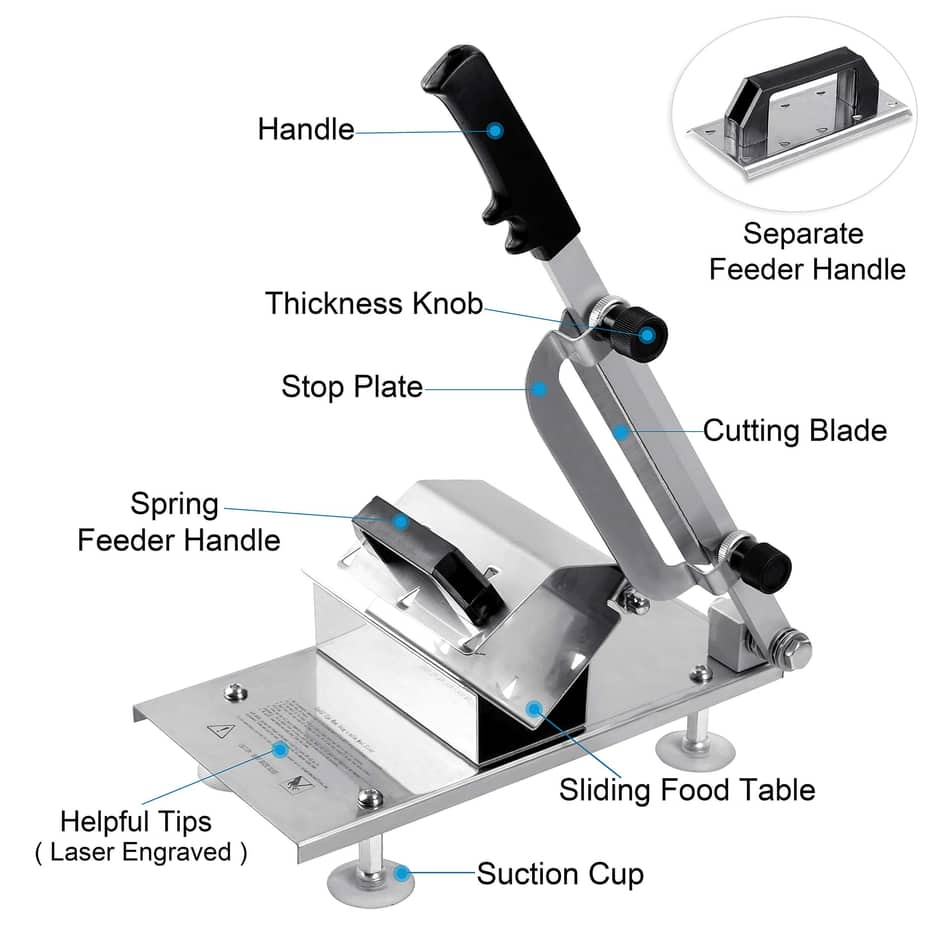 Befen Stainless Steel Meat Cutter Beef Mutton Roll Meat Food Slicer