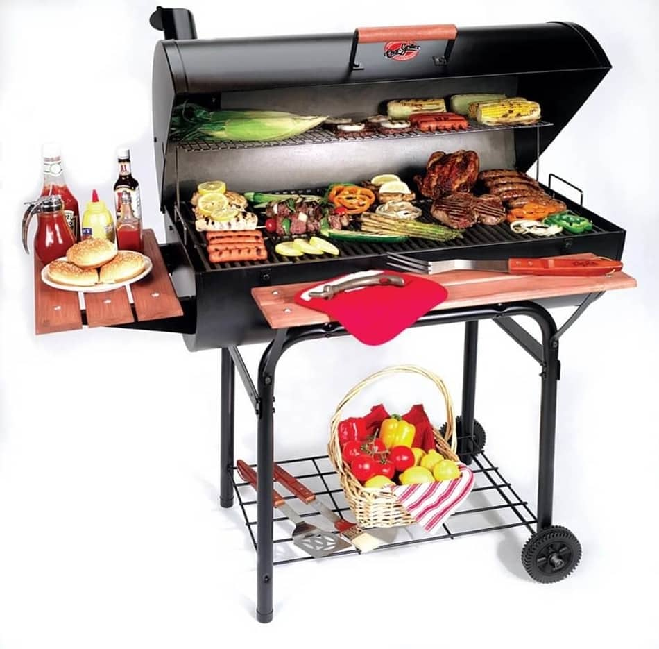 Char-Griller 2137 Outlaw 1063 Square Inch Charcoal Grill Smoker