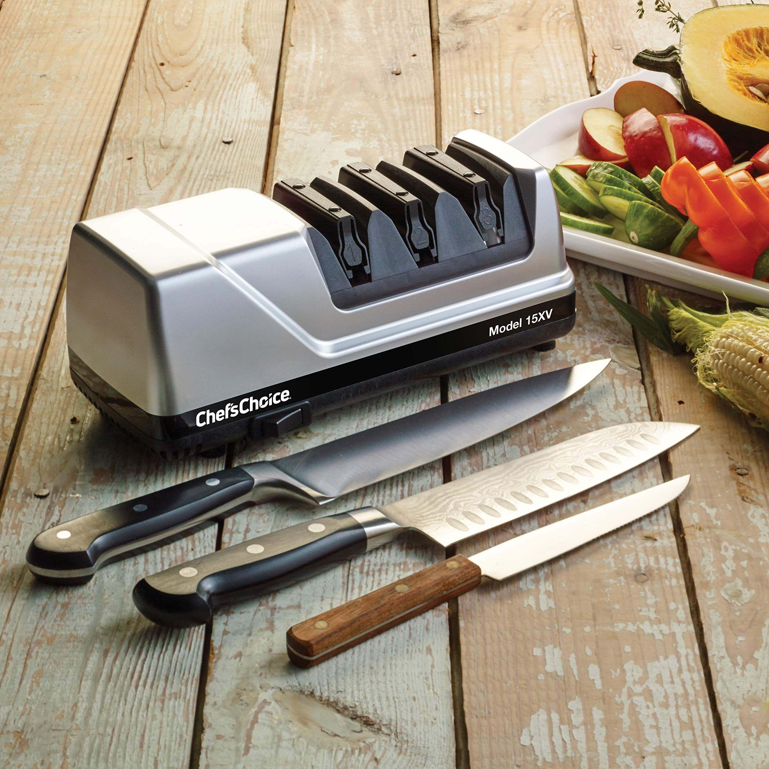 electric knife sharpener reviews, best electric knife sharpener, chef's choice trizor xv knife sharpener