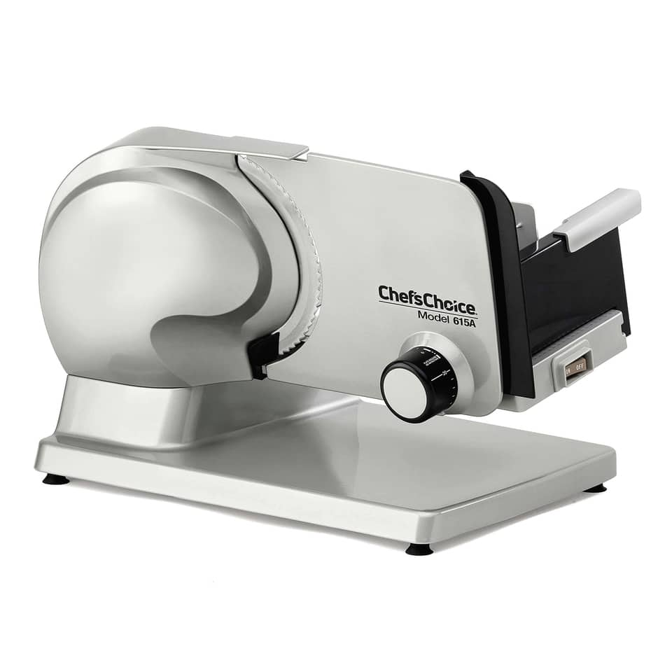 Chef'sChoice 615A000 Tilted Food Carriage for Fast and Efficient Slicing