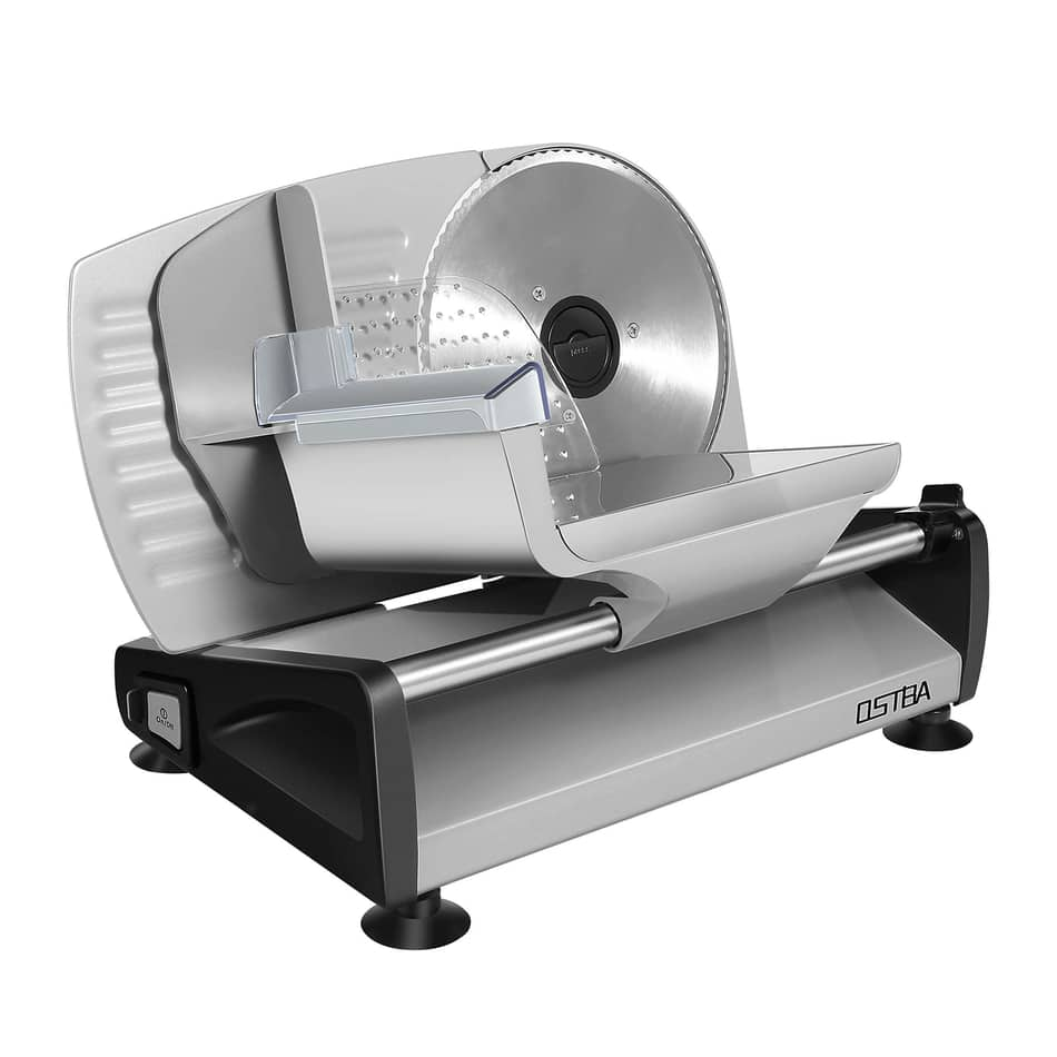 OSTBA Electric Deli Food Slicer with Child Lock Protection