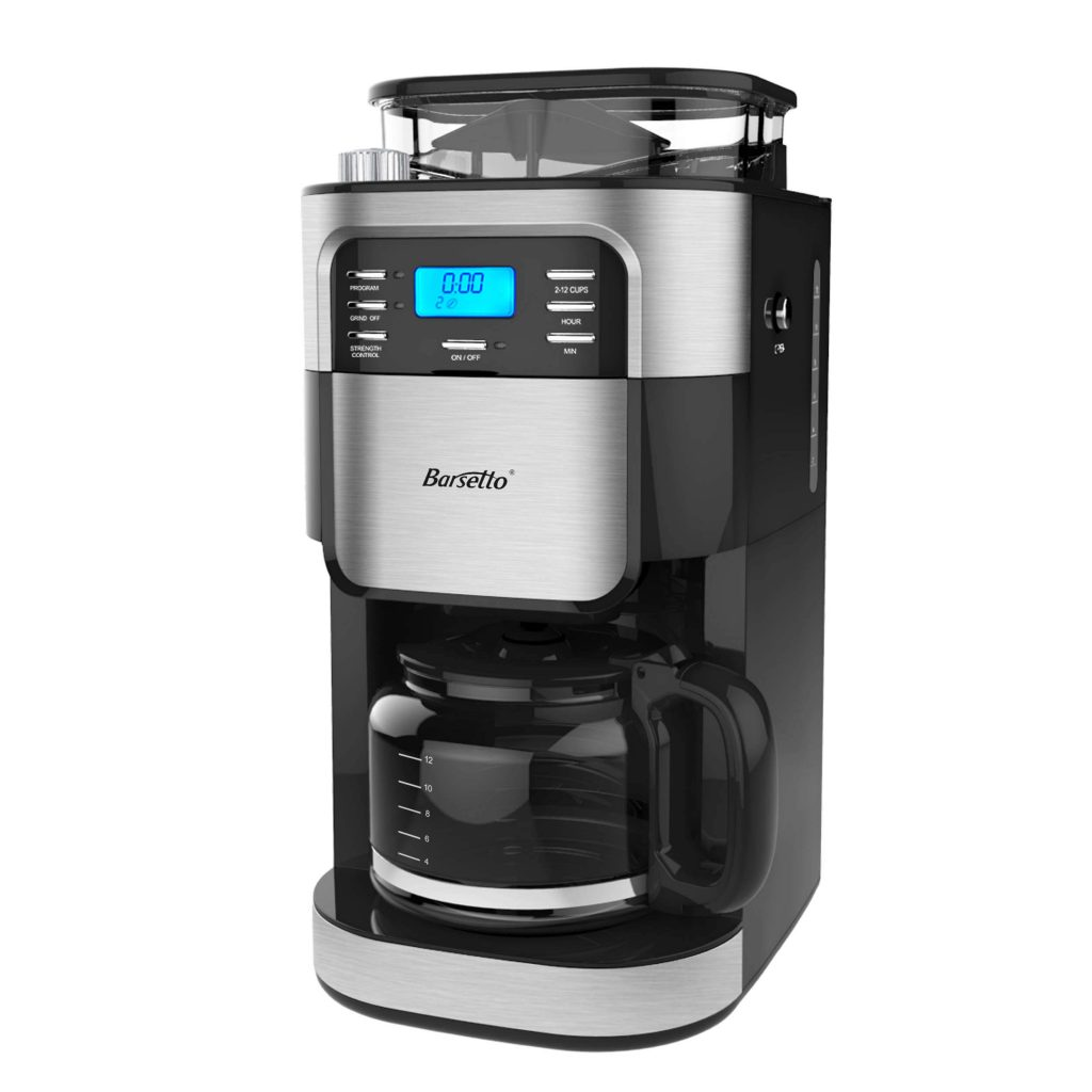 best coffee maker with grinder, Barsetto Automatic Grind and Brew Coffee Maker, best grind and brew coffee maker, best coffee maker with grinder 2020