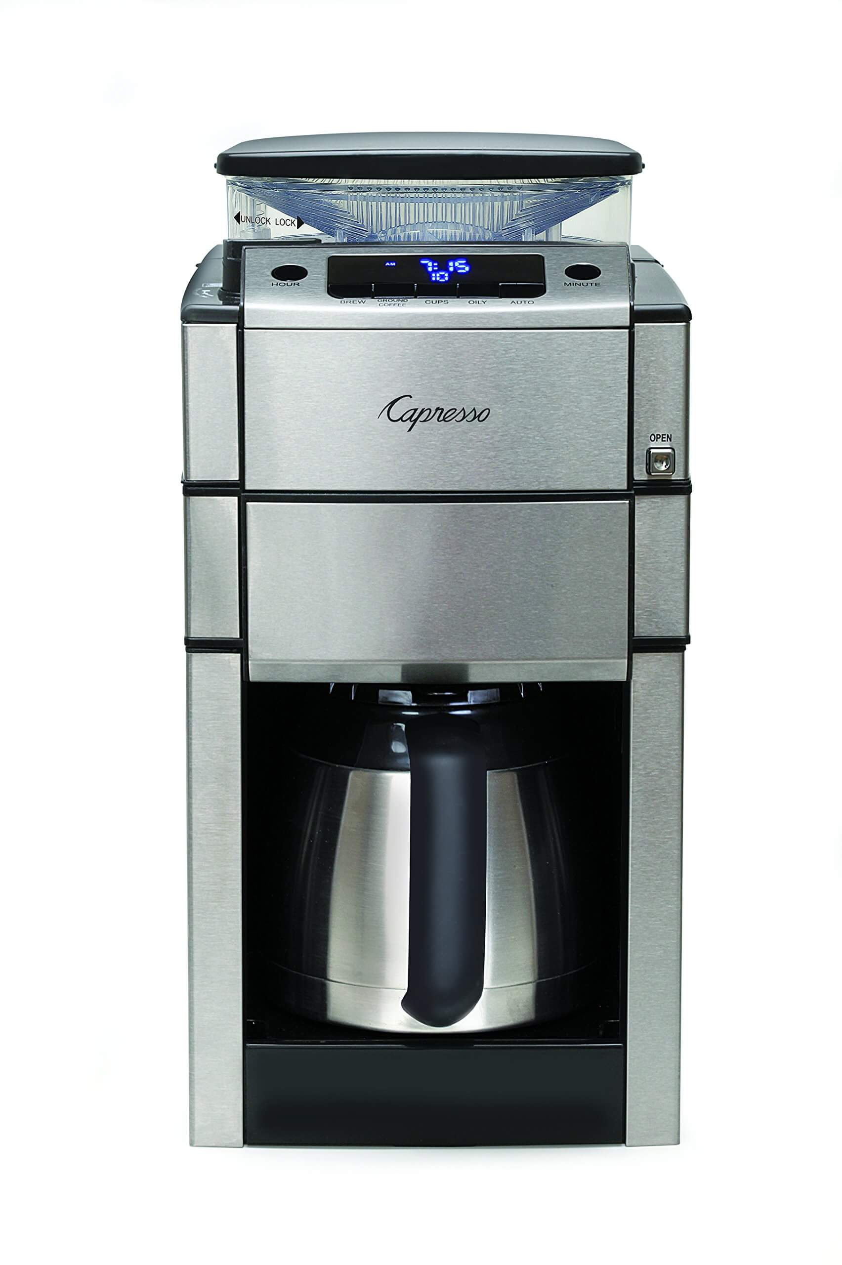 best coffee maker with grinder, Capresso 488.05 Team Pro Plus Coffee Maker with Grinder, best coffee maker and grinder, best coffee pot, best tasting coffee maker