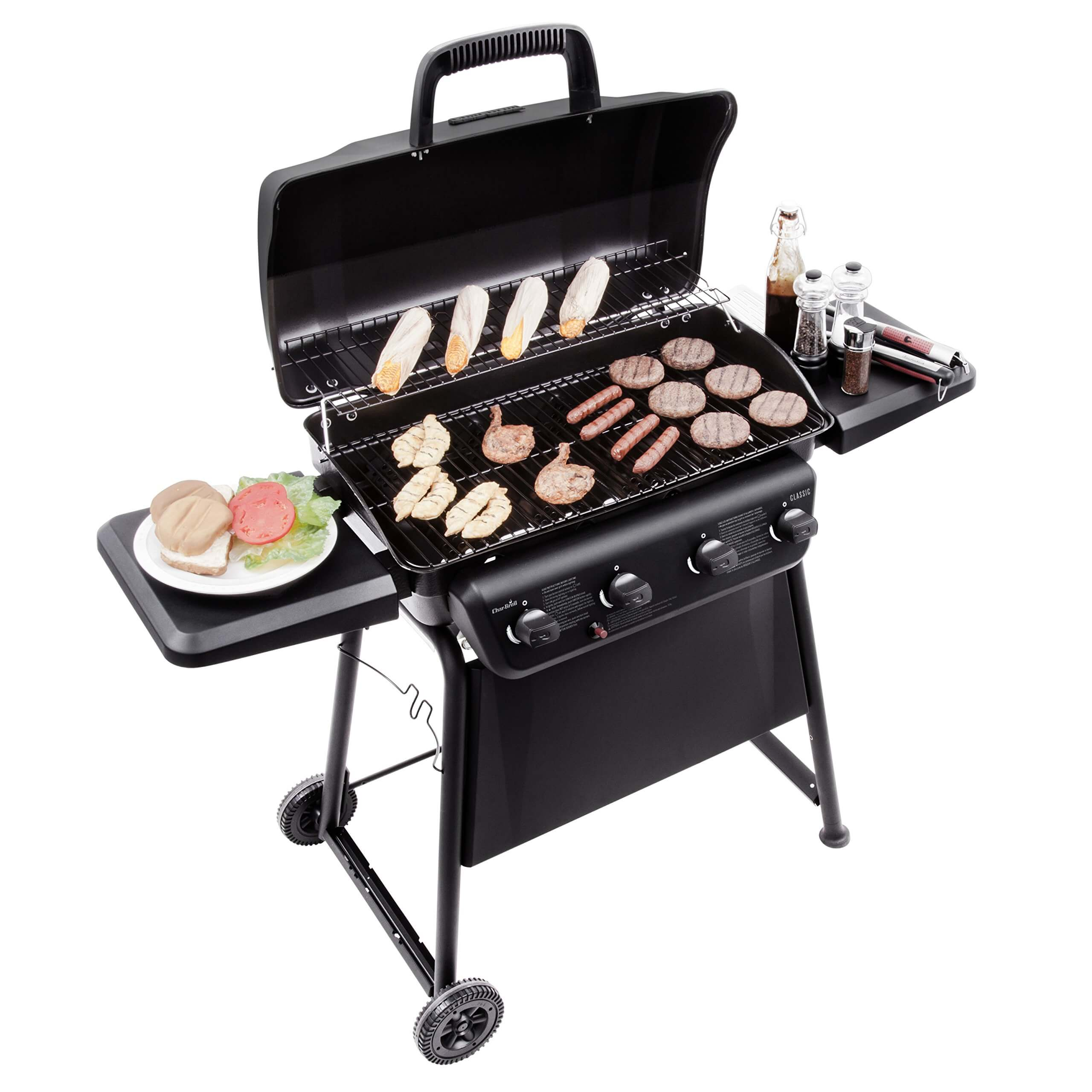 Char-Broil Classic 405 4 – Burner Liquid propane Grill, best propane grills 2020, best bbq grills 2020, grill reviews 2020, best gas grill for the money, char-broil performance 475 gas grill, best gas grills under $300