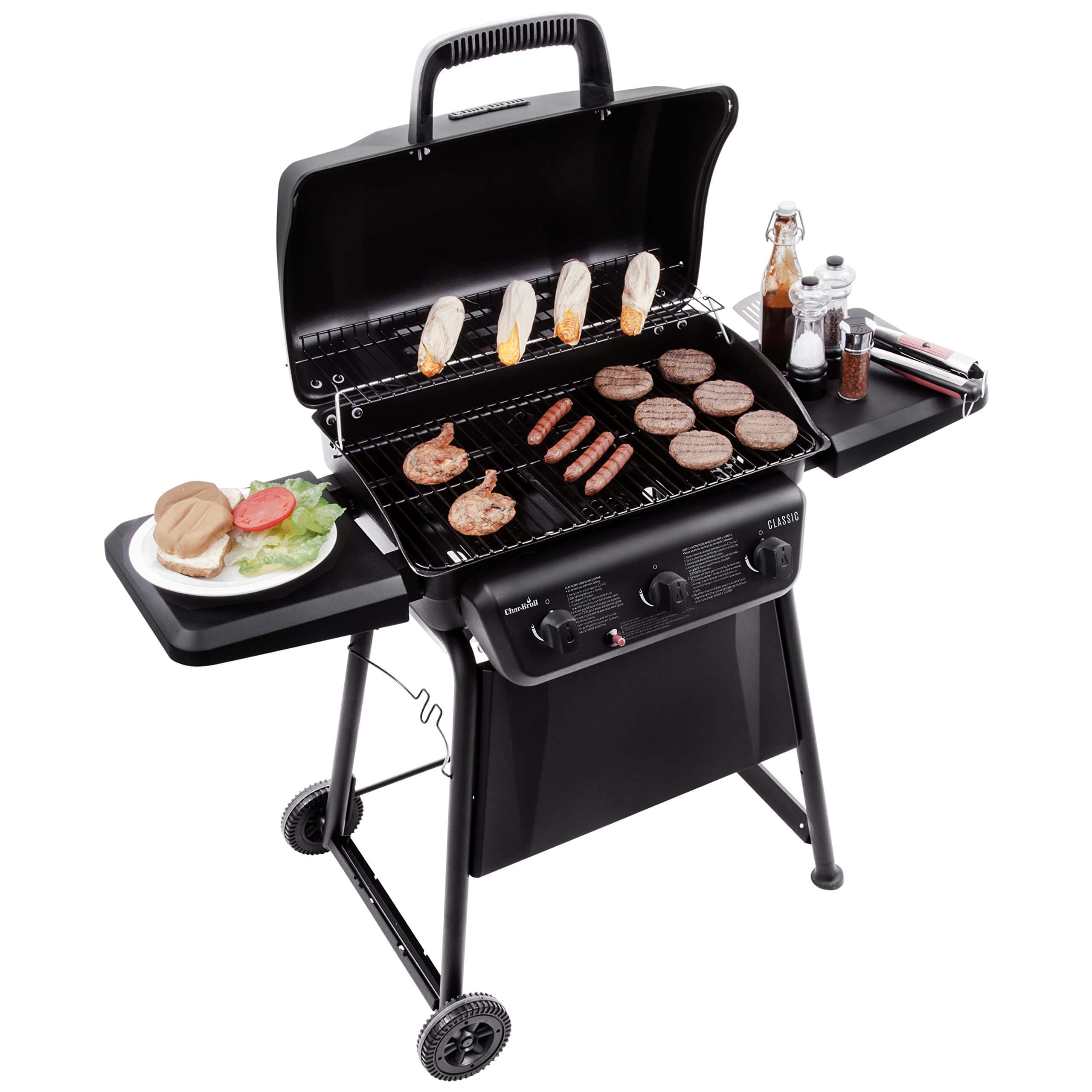 Best Gas Grill under $300 for Delicious and Easy Home Grilling, best gas grills under 300, cheap gas grills, best small gas grill, Char-Broil Classic 360 3-Burner Gas Grill, best gas grills under $200