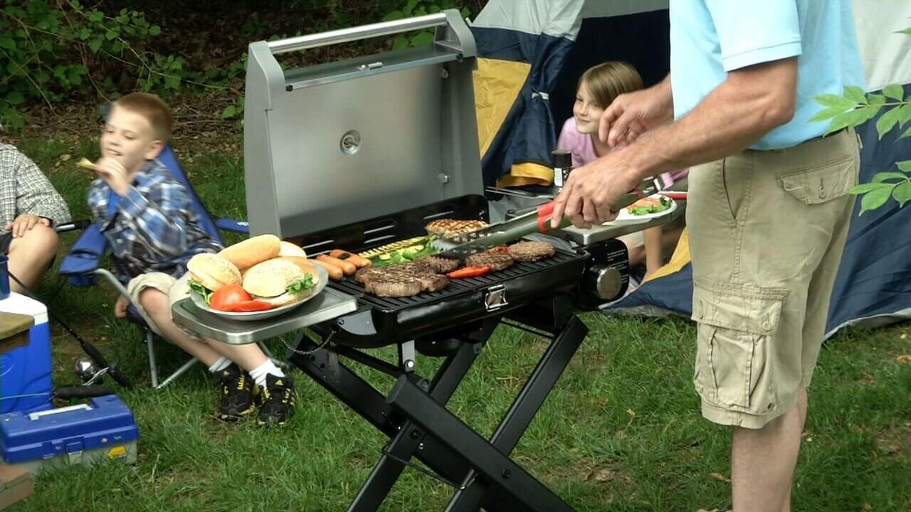 cuisinart gas grill, Cuisinart CGG-240 All Foods Roll Away Portable Gas Grill, best gas grills under $500, best grill 2020, cuisinart deluxe four-burner gas grill, cuisinart grill review