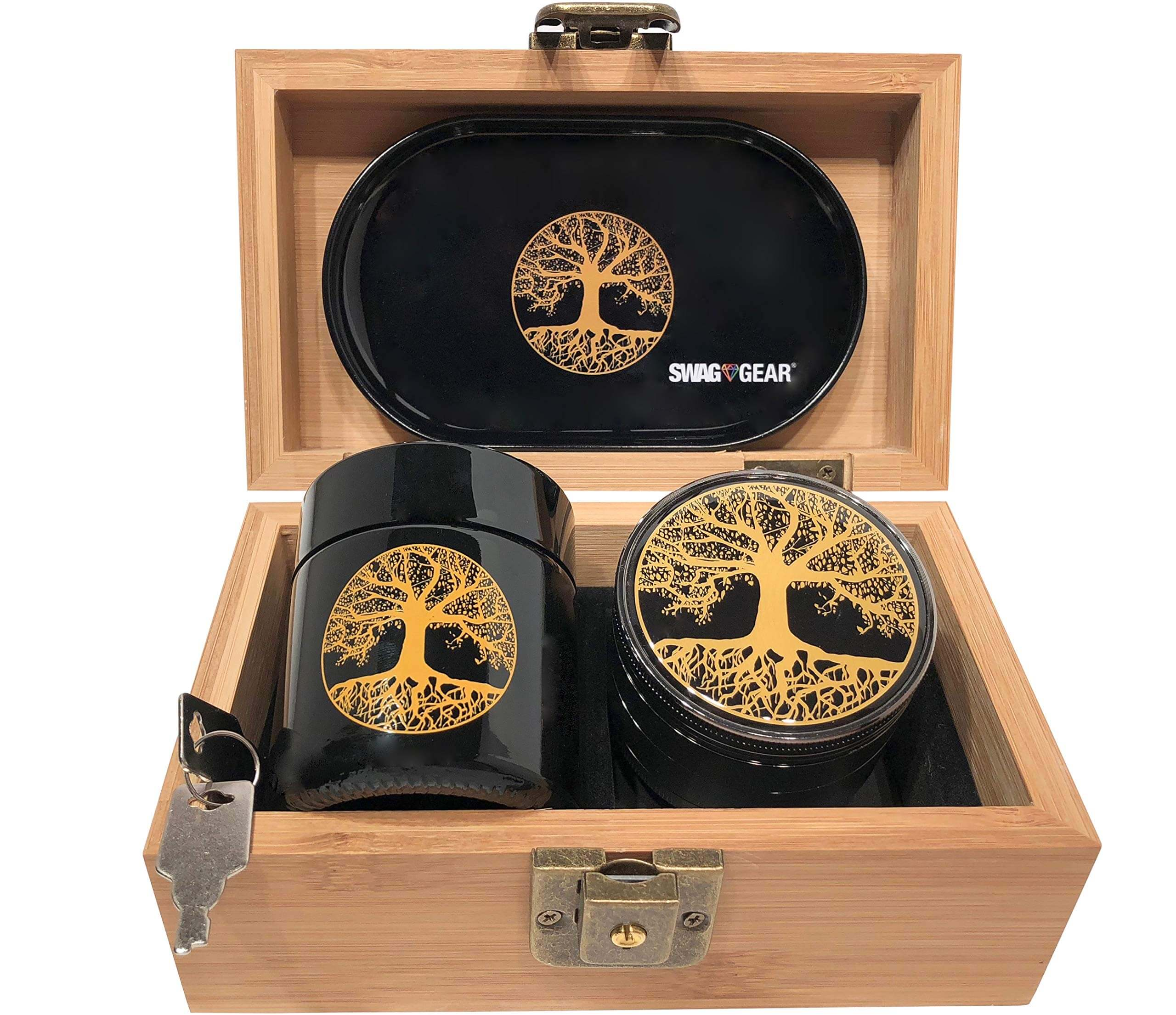 Tree of Life Stash Box Combo by Swagstr Grinders, best grinder for weed, herb grinder near me, best grinders for weed, amazon grinder