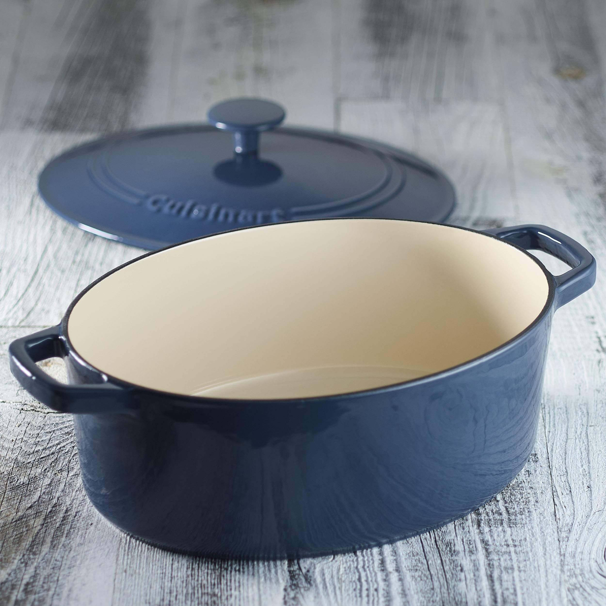 Cuisinart CI755-30BG Oval 5-1/2 Quart Covered best Casserole dish, casserole pan, casserole pot