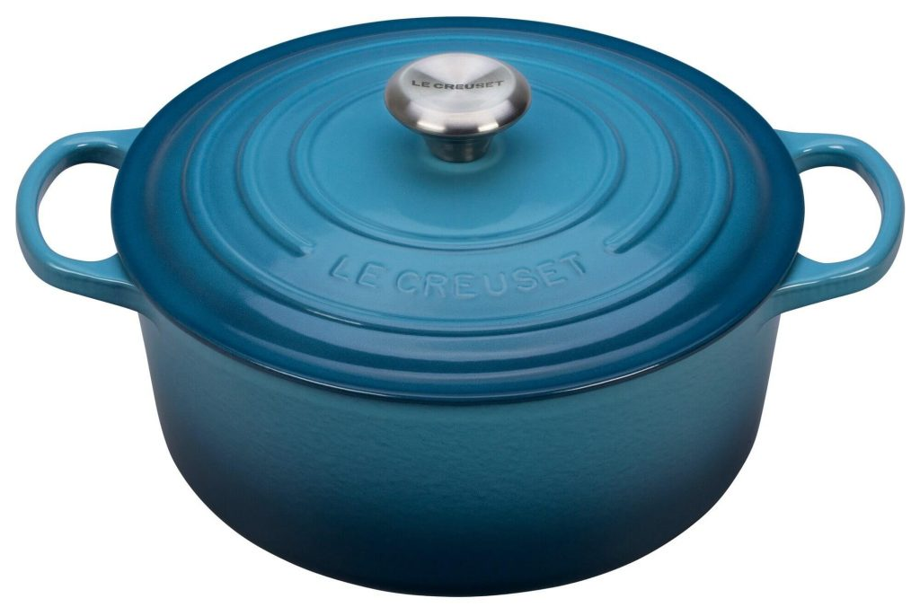 baking dish with lid, Le Creuset Signature Enameled Round 5-1/2 Qt French (Dutch) Oven, casserole dish sizes, cast iron casserole dish, best casserole dish