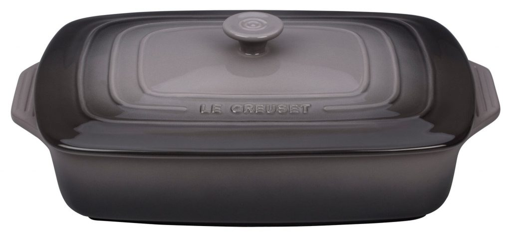Le Creuset Stoneware 2.75 Qt Covered Rectangular best Casserole dish, Le creuest baking dish
