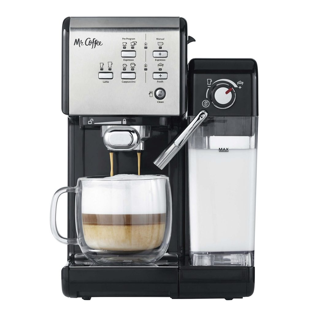 Coffee One-Touch CoffeeHouse Espresso Maker and Cappuccino Machine, best automatic latte machine for home, best espresso machine, mr.coffee latte maker, mr coffee cafe latte, mr coffee latte machine