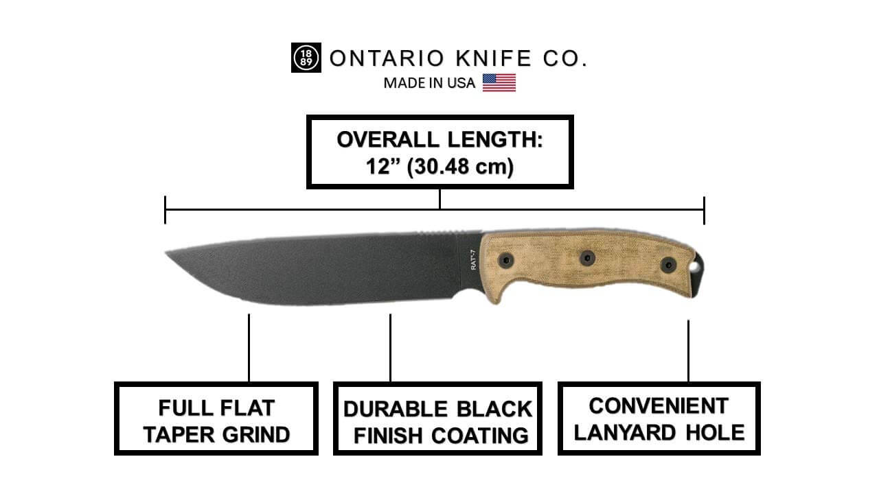 Ontario Knife Co. 8668 Rat-7 Fixed Blade Knife, best knives on amazon,best survival knife 2020, best survival knife for the money, bushcraft knives