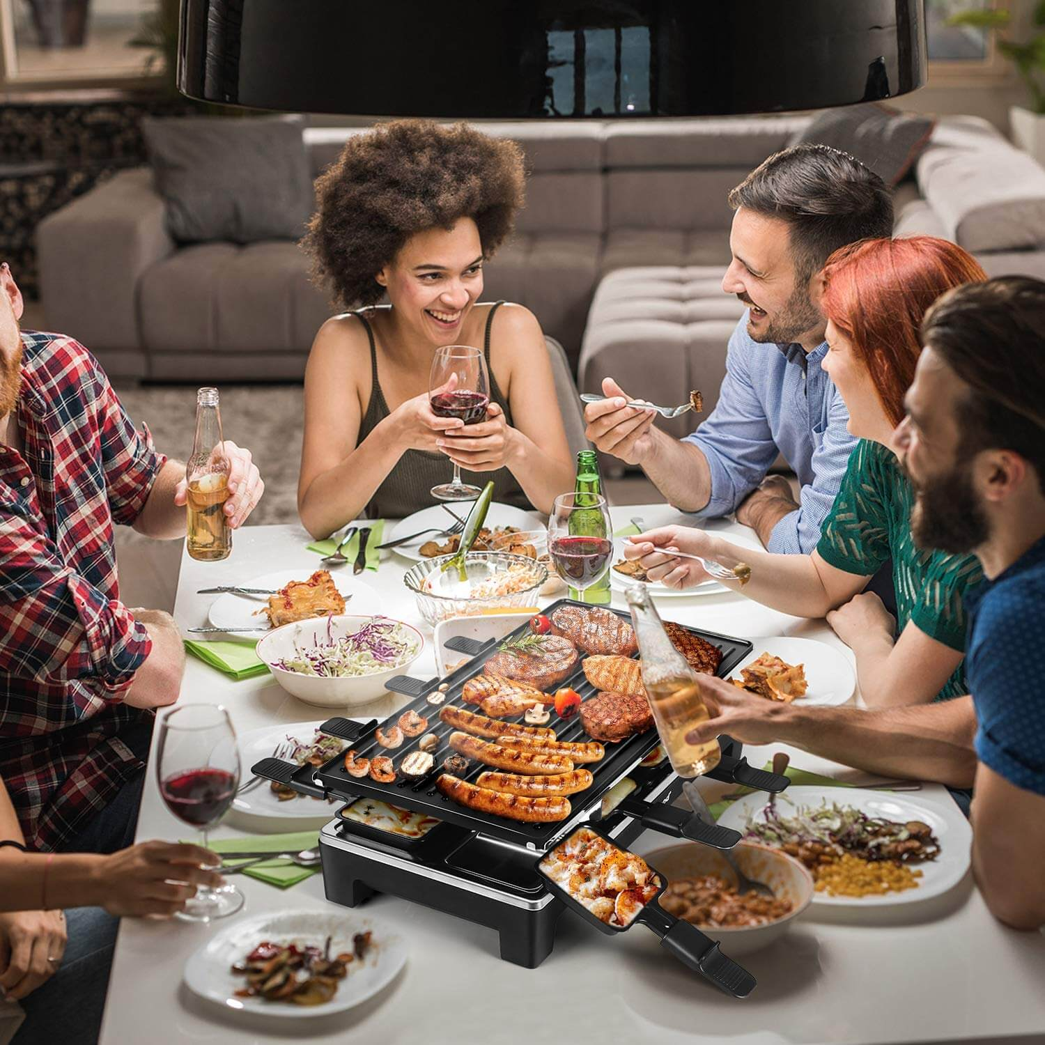 Techwood Raclette Grill / Raclette Party Grill, inside grill, smokeless grill, smokeless power grill, best smokeless indoor grill, best indoor grill