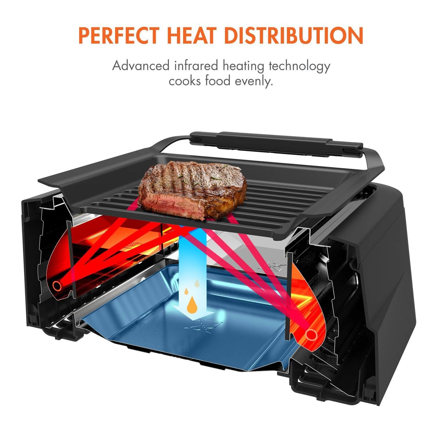 Tenergy Redigrill Smoke-Less Infrared Grill, countertop grill, electric grill indoor, electric grills