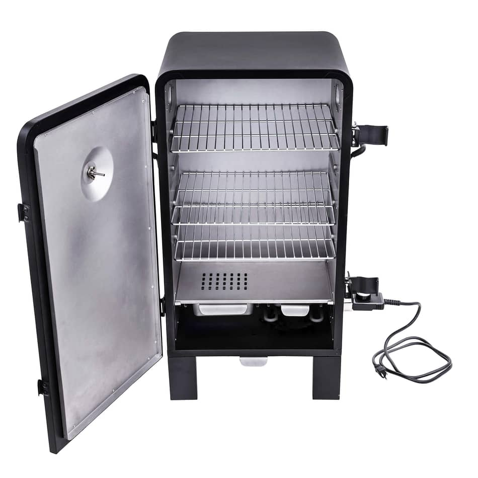 Char-Broil Analog Electric Smoker, best electric smoker under 200, best small smoker, best budget pellet smoker, best electric smoker for cold weather