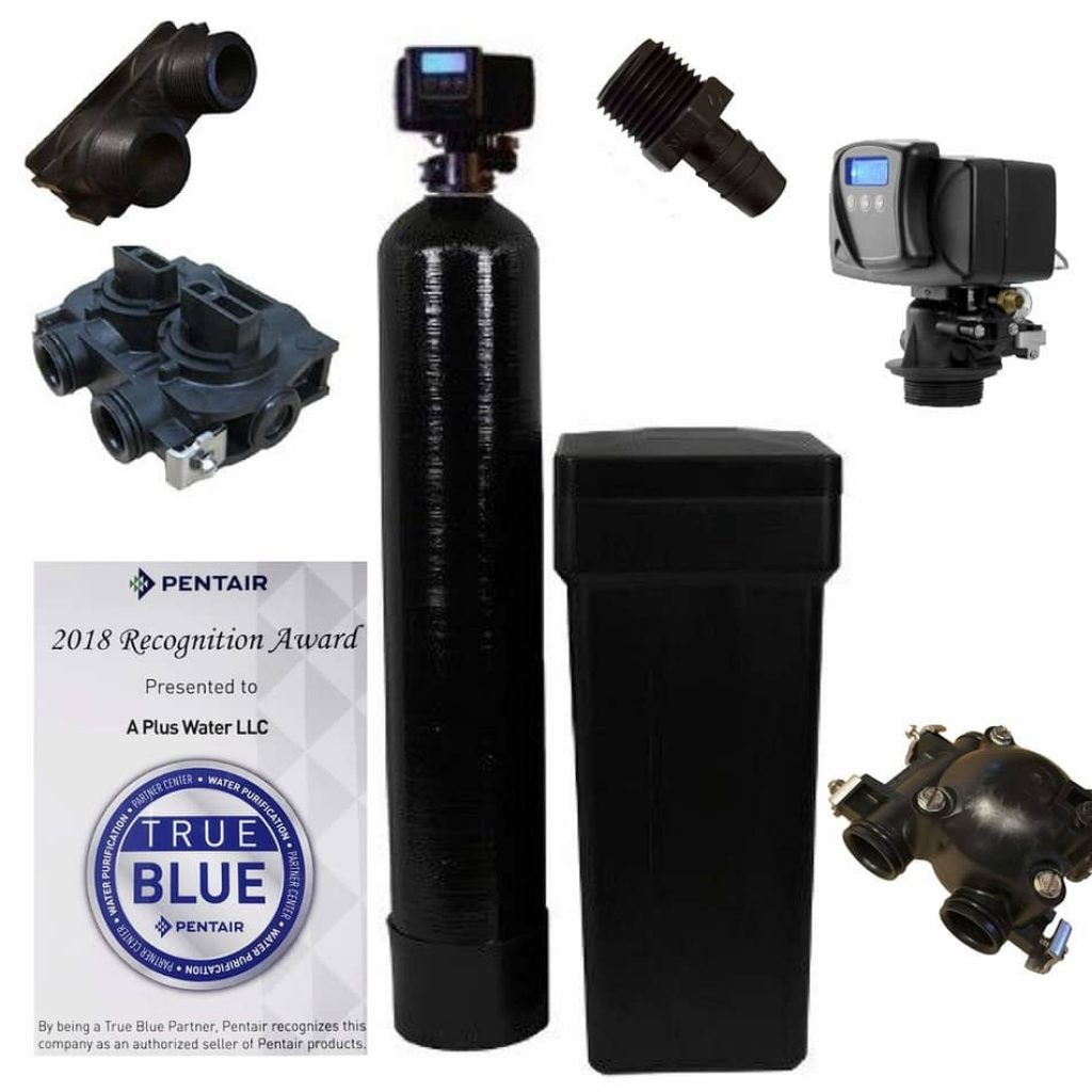 Fleck 5600SXT 64,000 Grain Water Softener, best home water softener 2021, fleck water softener systems, fleck 5600 metered water softener on demand control head valve