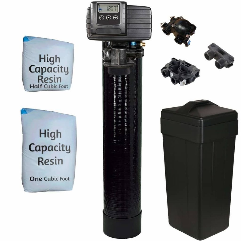 Fleck 5600sxt Metered On-demand 48,000 Grain Water Softener,  best whole house water filtration and softener system , fleck water softener review, fleck water softener installation,