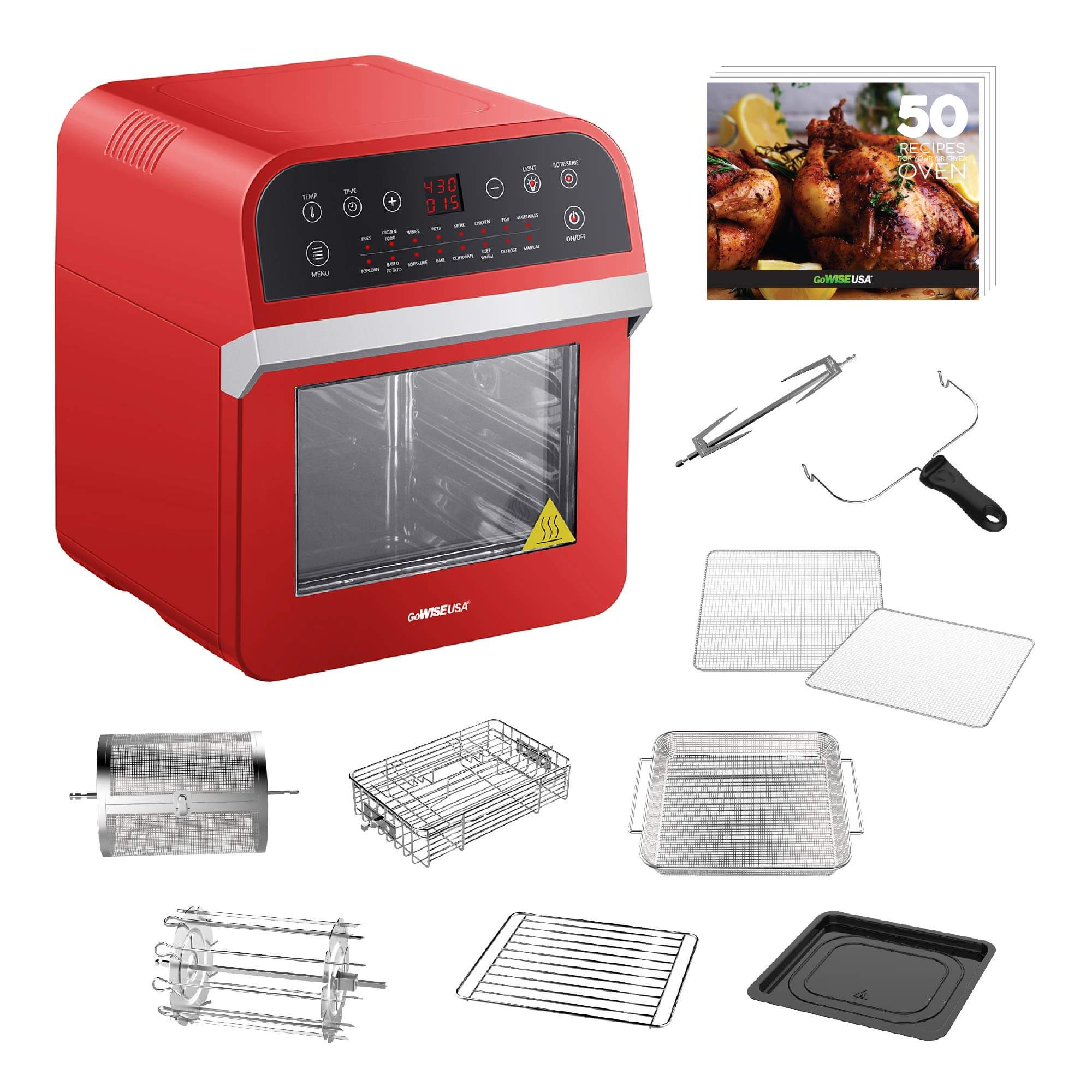 GoWISE USA GW44801 Deluxe, gowise air fryer oven, gowise usa air fryer, gowise air fryer xl, best small air fryer, air fryer amazon, amazon air fryer, air fryer accessories