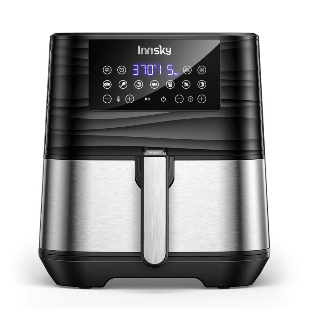 Innsky Air Fryer, 5.8 Quart, 1700-Watt Electric Stainless Steel Air Fryers Oven, innsky air fryer, best air fryer recipes, best air fryer 2020, best air fryer toaster oven, what is the best air fryer
