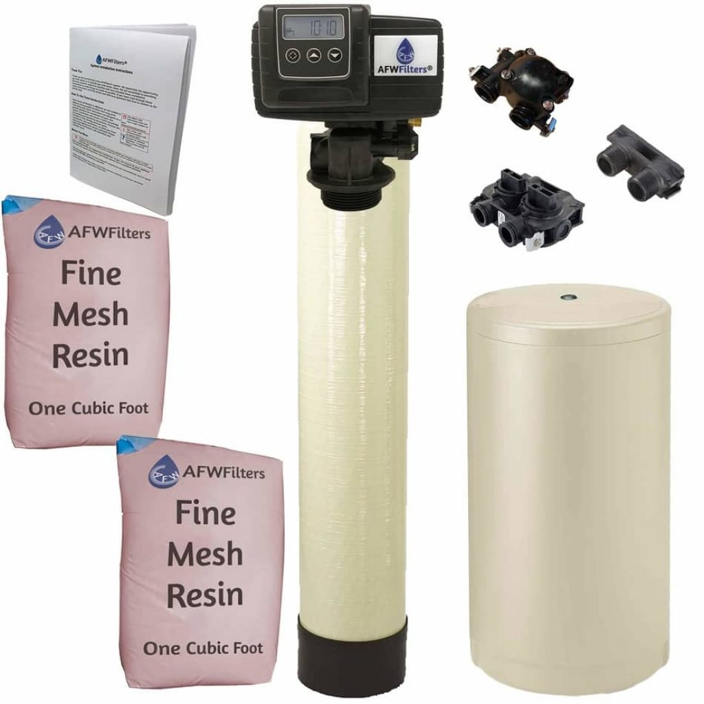 Iron Pro 2 Combination water softener, fleck iron pro 2, afw filters, iron water softener,  best water softeners 2021,  best salt free water softener