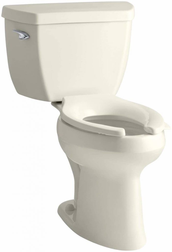 Kohler K-3493-96 Highline Classic Pressure Lite Comfort Height Elongated 1.4 gpf Toilet with Left-Hand Trip Lever, Less Seat, Biscuit, best flushing toilet