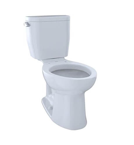 TOTO CST244EF#01 Entrada Two-Piece Elongated best flushing toilet 2021 1.28 GPF Universal Height Toilet, Cotton White