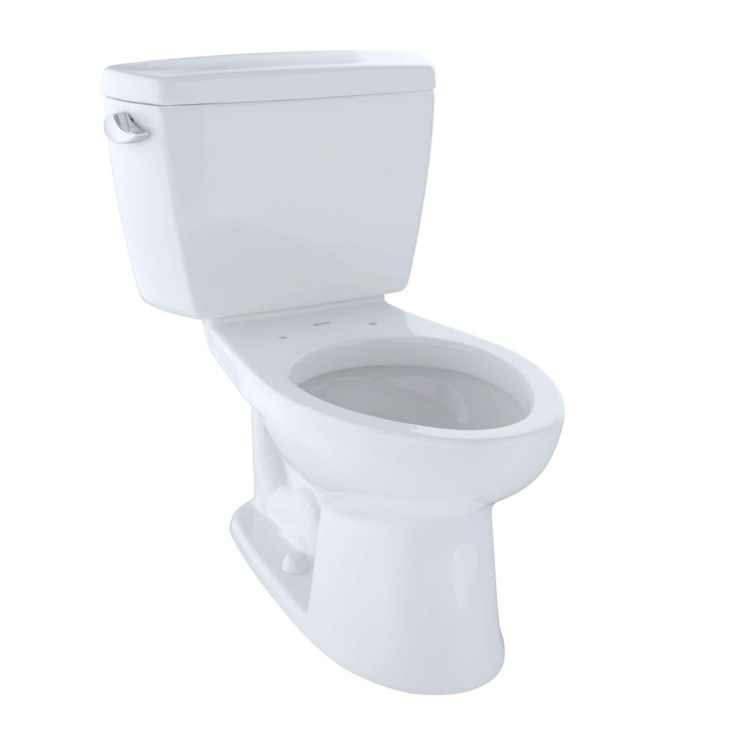 TOTO Drake Elongated Bowl and Tank best flushing toilet , Cotton White - CST744S#01