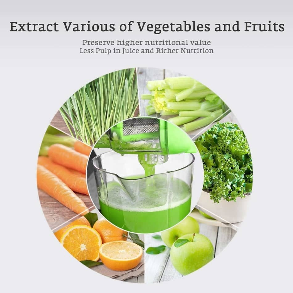 aicok slow masticating juicer extractor can juice any kind of fruit and vegetables