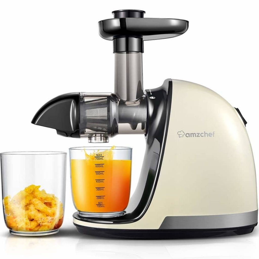 Amzchef slow masticating juicer is the best commercial cold press juicer 2021