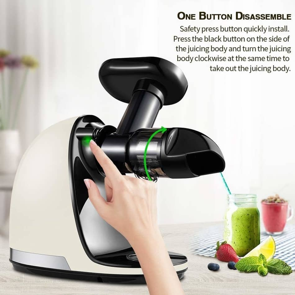 amzchef slow masticating juicer cleaning,  best cold press masticating juicer