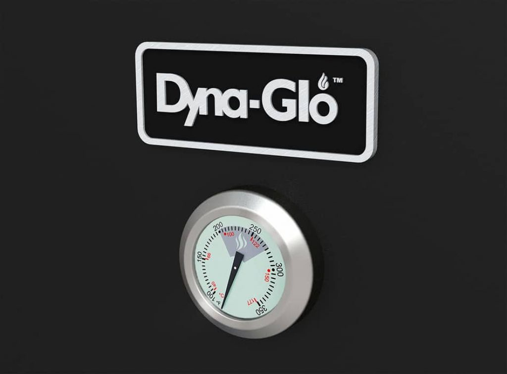 built-in thermometer in dyna-glo dgo1176bdc-d vertical offset charcoal smoker review