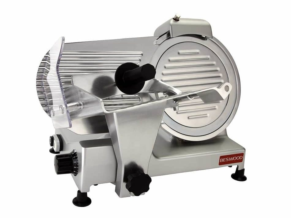 BESWOOD 10 Premium Chromium-plated Carbon Steel Blade Electric Deli Meat Cheese Food Slicer
