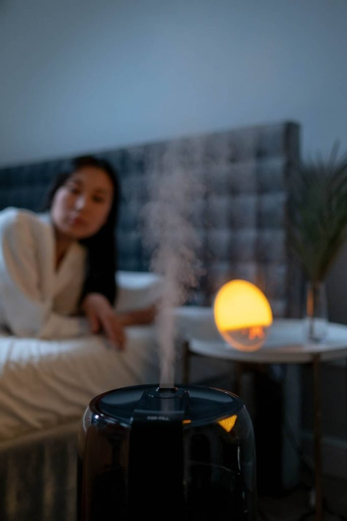 What is the best place for humidifier in bedroom?